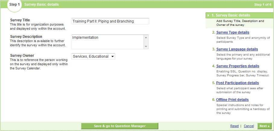 Product registration survey online survey software create for Household survey design